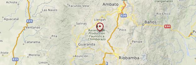 Carte Chimborazo - Équateur