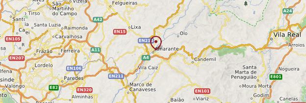 Carte Amarante - Portugal