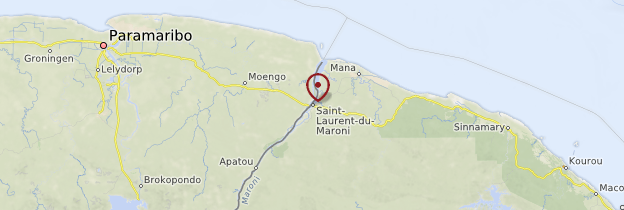Carte Saint-Laurent-du-Maroni - Guyane