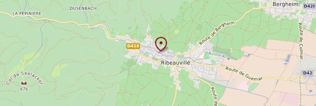 Carte Route des Vins d'Alsace - Alsace