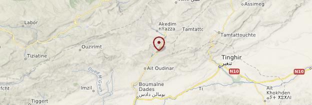 Carte Vallée des gorges du Dadès - Maroc