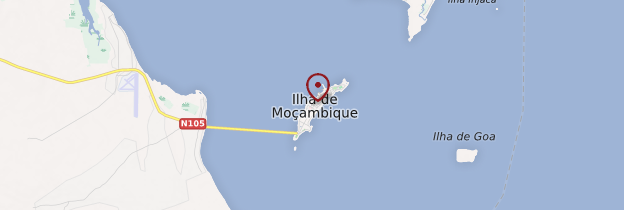 Carte Île de Mozambique - Mozambique