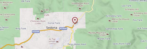 Carte Sedona - Parcs nationaux de l'Ouest américain