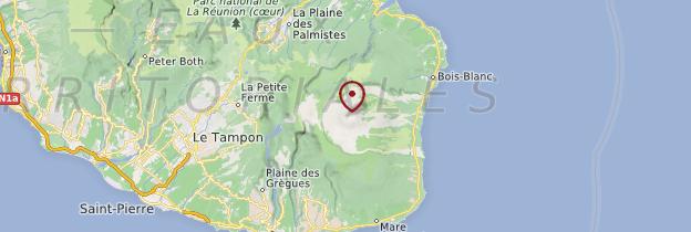 Carte Piton de la Fournaise - Réunion