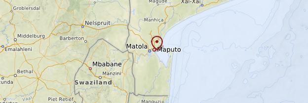Carte Maputo - Mozambique