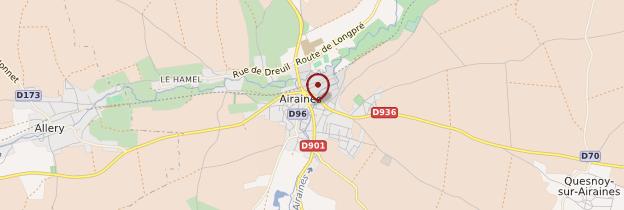 Carte Airaines - Picardie