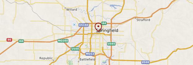 Carte Springfield - États-Unis