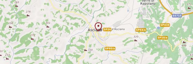Carte Asciano - Toscane