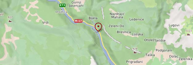 Carte Gorges de la Neretva - Bosnie-Herzégovine