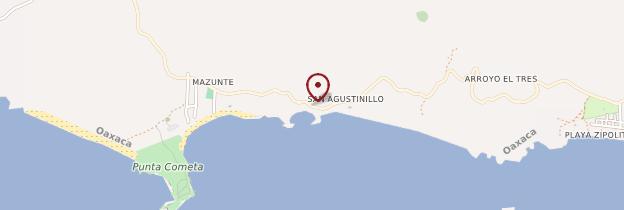 Carte San Agustinillo - Mexique