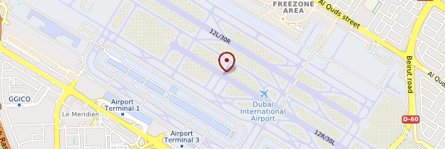 Carte Aéroport international de Dubaï - Dubaï