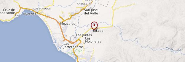 Carte Ixtapa - Mexique