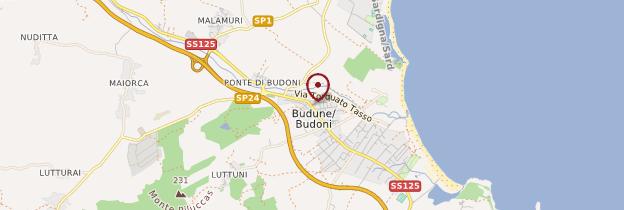 Carte Budoni - Sardaigne