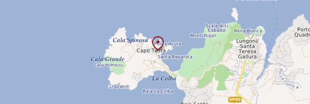 Carte Capo Testa - Sardaigne