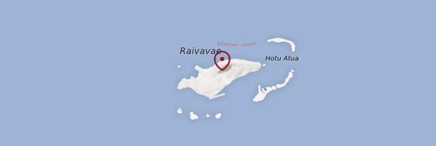 Carte Raivavae - Polynésie française