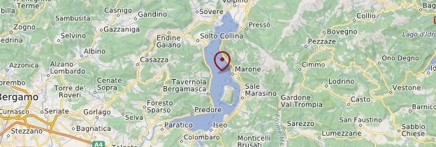 Carte Lago d'Iseo - Italie