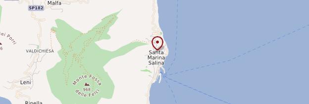 Carte Santa Marina Salina - Sicile
