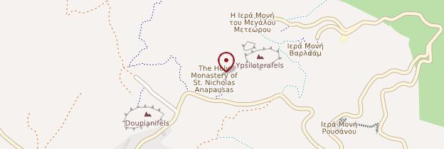 Carte Monastère d'Agios Nikolaos Anapavsas - Grèce