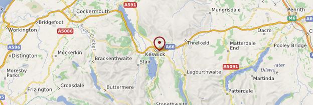 Carte Keswick - Angleterre