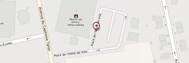 Carte Hôtel de ville de Versailles - Île-de-France