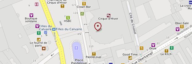 Carte Cirque d'hiver - Paris