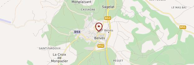 Carte Belvès - Périgord - Dordogne
