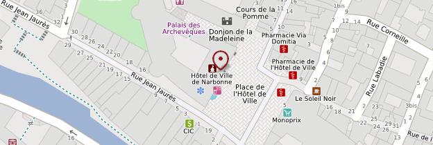Carte Palais des Archevêques - Languedoc-Roussillon