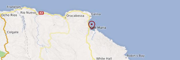 Carte Port Maria - Jamaïque