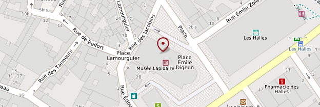 Carte Musée lapidaire - Languedoc-Roussillon