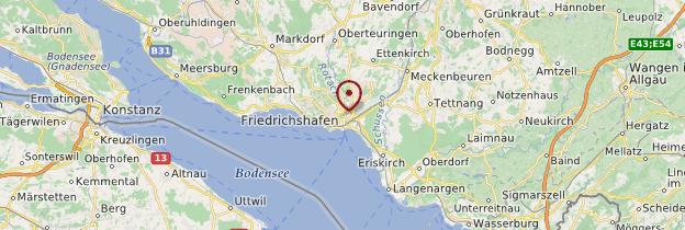 Carte Friedrichshafen - Allemagne