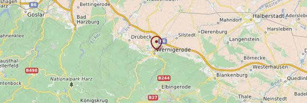 Carte Wernigerode - Allemagne