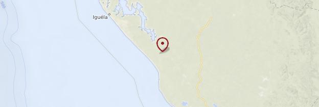 Carte Parc national de Loango - Gabon