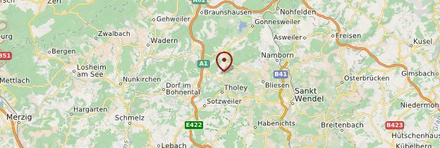 Carte Tholey - Allemagne
