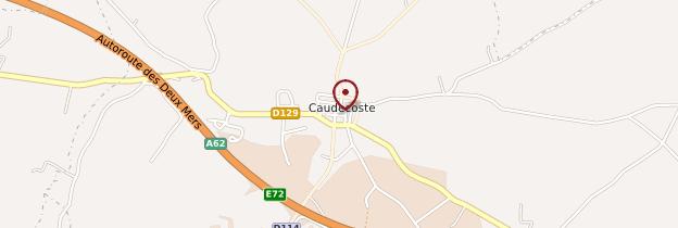 Carte Caudecoste - Aquitaine - Bordelais, Landes