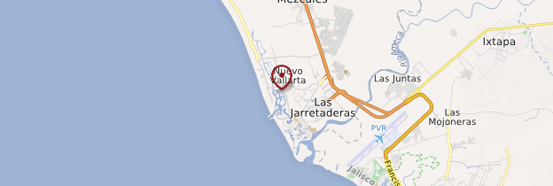 Carte Nuevo Vallarta - Mexique
