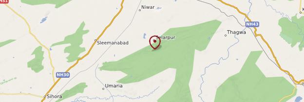 Carte Parc national de Bandhavgarh - Inde