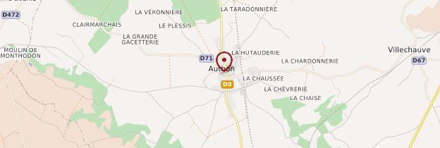 Carte Authon - Châteaux de la Loire