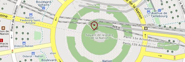 Carte Place de la Nation - Paris