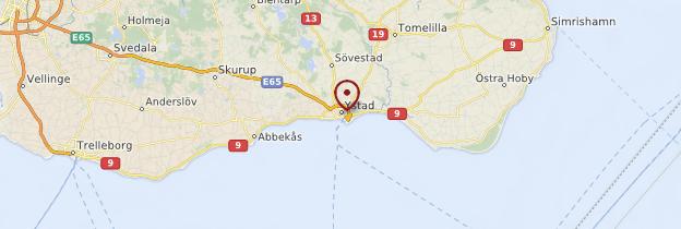 Carte Ystad - Suède