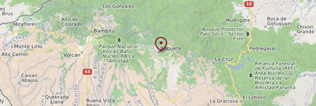 Carte Boquete - Panama