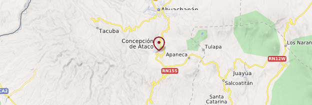 Carte Concepción de Ataco - Salvador
