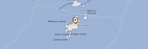 Carte Île Carriacou - Grenade