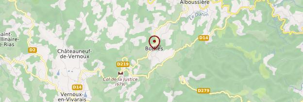 Carte Boffres - Ardèche, Drôme