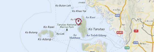 Carte Tarutao National Marine Park - Thaïlande