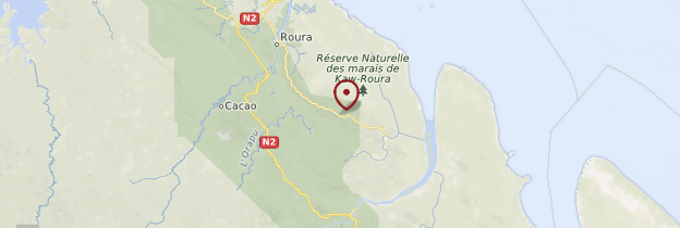 Carte Réserve naturelle des marais de Kaw-Roura - Guyane