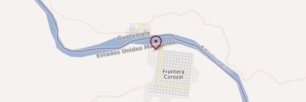Carte Frontera Corozal - Mexique