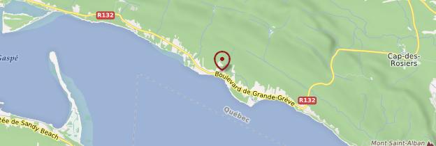 Carte Cap-aux-Os - Québec