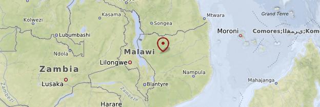 Carte Province de Niassa - Mozambique