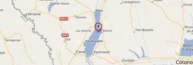 Carte Lac Ahémé - Bénin