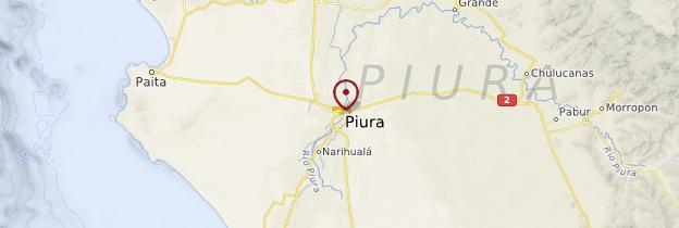 Carte Piura - Pérou